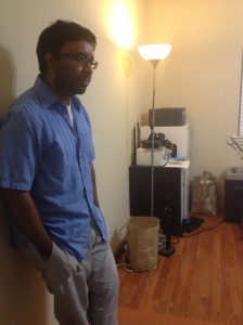 Prasant Radhakrishnan, Carnatic and jazz saxophonist, in his studio